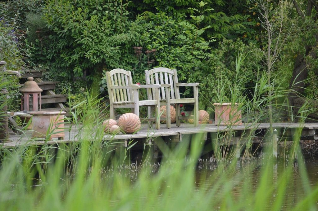 relaxation, chairs, wood